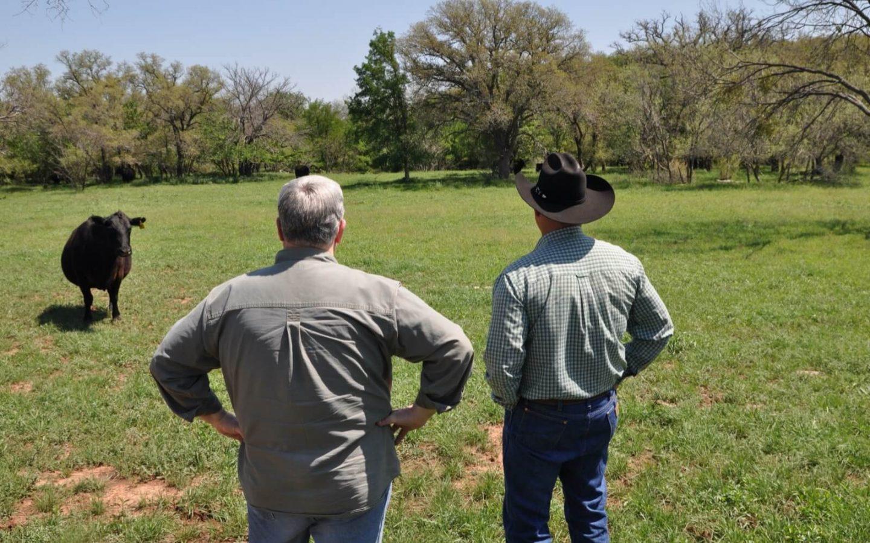 Tom and Ryan Johnson at River Creek Ranch